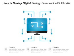 Icon To Develop Digital Strategy Framework With Circuits
