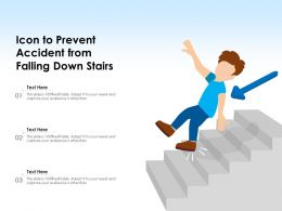 Icon To Prevent Accident From Falling Down Steep Stairs