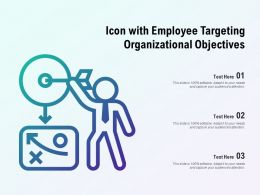 Icon With Employee Targeting Organizational Objectives