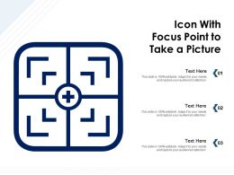 Icon With Focus Point To Take A Picture