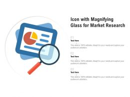 Icon With Magnifying Glass For Market Research