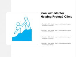 Icon With Mentor Helping Protege Climb