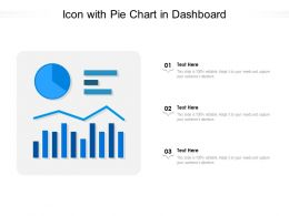Icon With Pie Chart In Dashboard