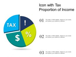 Icon With Tax Proportion Of Income
