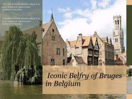 Iconic Belfry Of Bruges In Belgium