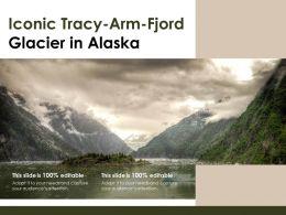 Iconic Tracy Arm Fjord Glacier In Alaska