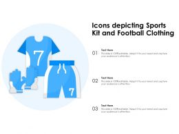 Icons Depicting Sports Kit And Football Clothing