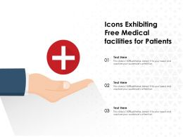 Icons Exhibiting Free Medical Facilities For Patients