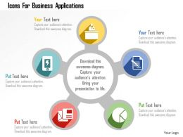 Icons For Business Applications Flat Powerpoint Design