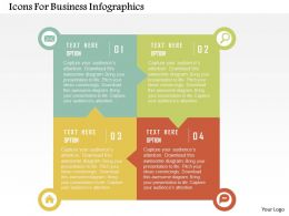 Icons For Business Infographics Flat Powerpoint Design