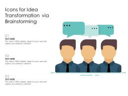 Icons For Idea Transformation Via Brainstorming