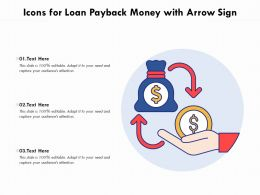 Icons For Loan Payback Money With Arrow Sign