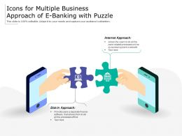 Icons For Multiple Business Approach Of E Banking With Puzzle