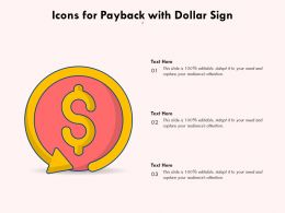 Icons For Payback With Dollar Sign