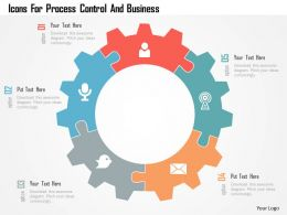 Icons For Process Control And Business Flat Powerpoint Design