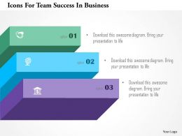 Icons For Team Success In Business Powerpoint Templates