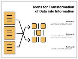 Icons For Transformation Of Data Into Information