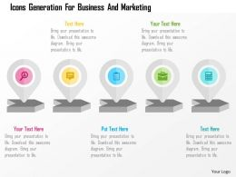 Icons Generation For Business And Marketing Flat Powerpoint Design