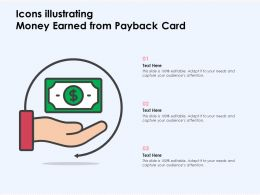 Icons Illustrating Money Earned From Payback Card