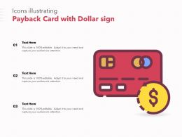 Icons Illustrating Payback Card With Dollar Sign