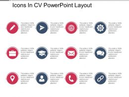 Icons In Cv Powerpoint Layout