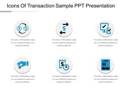 Icons Of Transaction Sample Ppt Presentation