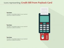 Icons Representing Credit Bill From Payback Card