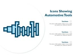 Icons Showing Automotive Tools