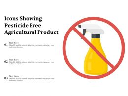 Icons Showing Pesticide Free Agricultural Product