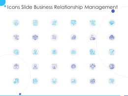 Icons Slide Business Relationship Management Ppt Powerpoint Presentation Professional