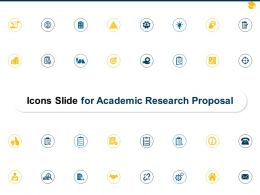 Icons Slide For Academic Research Proposal Ppt Powerpoint Presentation Design