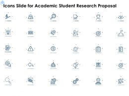 Icons Slide For Academic Student Research Proposal Ppt Powerpoint Presentation Tips