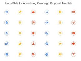 Icons Slide For Advertising Campaign Proposal Template Ppt Powerpoint Presentation Layouts