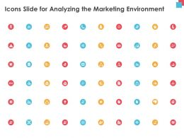 Icons Slide For Analyzing The Marketing Environment Ppt Powerpoint Presentation Background