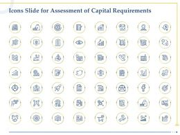 Icons Slide For Assessment Of Capital Requirements Ppt Powerpoint Deck