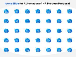 Icons Slide For Automation Of HR Process Proposal Ppt Powerpointgallery Visual Aids