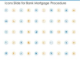 Icons Slide For Bank Mortgage Procedure Ppt Powerpoint Presentation Infographic Template
