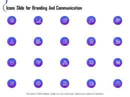 Icons Slide For Branding And Communication Ppt Powerpoint Examples
