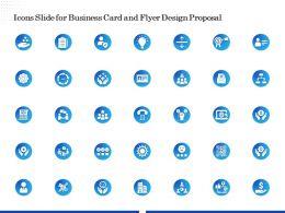Icons Slide For Business Card And Flyer Design Proposal Ppt Demonstration