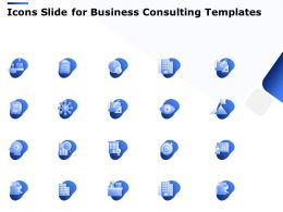 Icons Slide For Business Consulting Templates Ppt Powerpoint Presentation Smartart