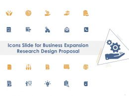 Icons Slide For Business Expansion Research Design Proposal Ppt Powerpoint Portfolio