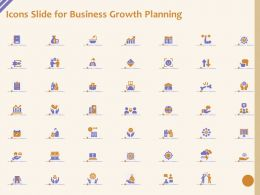 Icons Slide For Business Growth Planning Ppt Powerpoint Presentation Gallery Gridlines