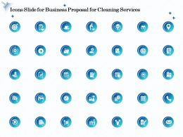 Icons Slide For Business Proposal For Cleaning Services Ppt Ideas