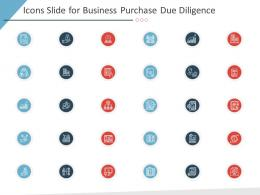 Icons Slide For Business Purchase Due Diligence Ppt Designs