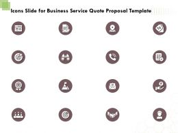 Icons Slide For Business Service Quote Proposal Template Ppt Powerpoint Portfolio