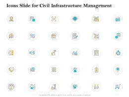 Icons Slide For Civil Infrastructure Management Ppt Inspiration