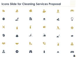 Icons Slide For Cleaning Services Proposal Ppt Powerpoint Presentation Icon