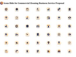Icons Slide For Commercial Cleaning Business Service Proposal Ppt Icon