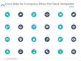 Icons Slide For Company Ethics Ppt Deck Templates Ppt Pictures