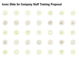 Icons Slide For Company Staff Training Proposal Ppt Powerpoint Designs Download